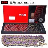 台湾雅邦YBN S11-TIC 11速链条 半镂空炫彩色
